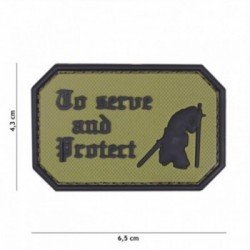 Patch 3D PVC To serve and protect OD (101 Inc)