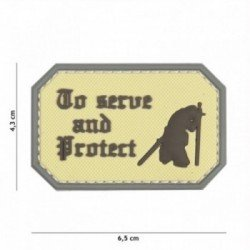 Patch 3D PVC To serve and protect Coyote (101 Inc)
