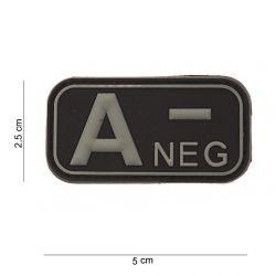Patch 3D PVC Sanguin A- Noir (101 Inc)
