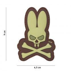 Patch in PVC Teschio Bunny Desert 3D (101 Inc)