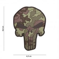3D PVC Punisher Camouflage Italian Patch (101 Inc)