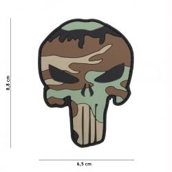 PVC Patch Punisher Camouflage Woodland (101 Inc)
