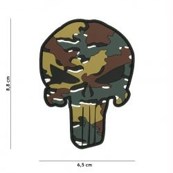 Patch 3D PVC Punisher Camouflage Belge (101 Inc)