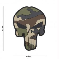 Patch 3D PVC Punisher Camouflage Français