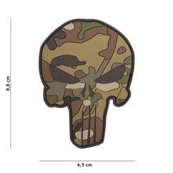 Patch 3D PVC Punisher Camouflage Multicam (101 Inc)