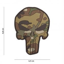 PVC Patch Punisher Camouflage Multicam (101 Inc)
