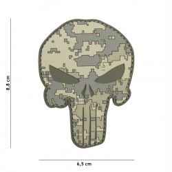 Patch 3D PVC Punisher Camouflage ACU (101 Inc)