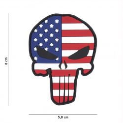 Patch 3D PVC Punisher Drapeau USA (101 Inc)