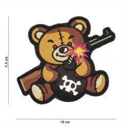 STOP 3D PVC Patch Terror Teddy