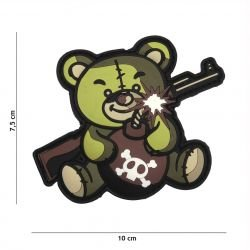 Patch 3D PVC Terror Teddy OD (101 Inc)
