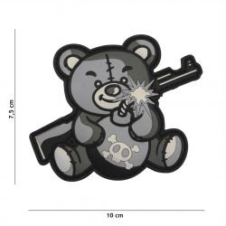 Patch 3D PVC Terror Teddy Gris (101 Inc)