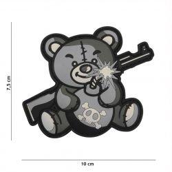 Patch 3D PVC Terror Teddy Gris