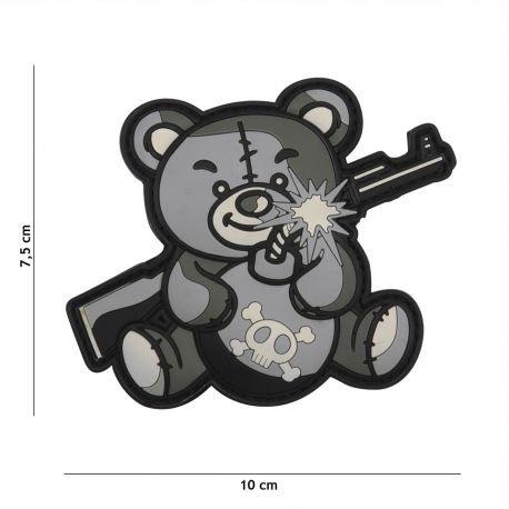 101 INC Patch 3D PVC Terror Teddy Gris AC-WP4441305454 Equipements