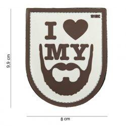 Patch 3D PVC I Love My Beard Brown (101 Inc)