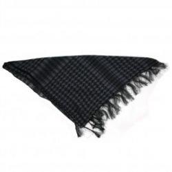 Keffieh / Cheche / bufanda negro y gris (101 inc.)