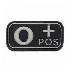 Parche de PVC 3D Blood O + Black (101 Inc)