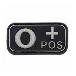 PVC 3D Patch Blood O + Black (101 Inc)