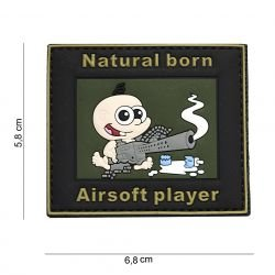 Patch 3D PVC Natural Born Player Airsoft (101 Inc)