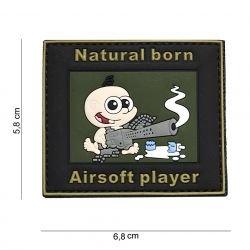 Patch PVC Natural Born Patch 3D Airsoft (101 Inc)