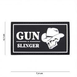 Patch 3D PVC Gun Slinger Skull Cowboy Noir (101 Inc)