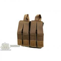 PANTAC Poche Chargeur M4 (x2) + Pistol (x4) Coyote (Pantac) AC-PTPHC54BCBA Poche Pistolet
