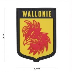 Patch 3D PVC Ecusson Wallonie Jaune