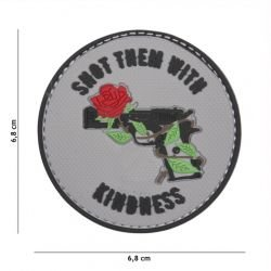 Patch 3D PVC Shoot Them With Kindness Gris (101 Inc)