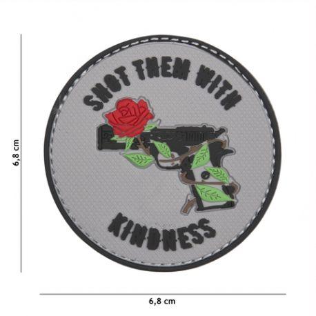 101 INC Patch 3D PVC Shoot Them With Kindness Gris AC-WP4441305422 Equipements