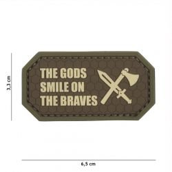 Patch 3D in PVC The Gods Brown Sorriso sui Braves (101 Inc)