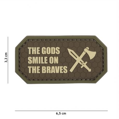 101 INC Patch 3D PVC The Gods Smile on the braves Marron AC-WP4441305442 Equipements