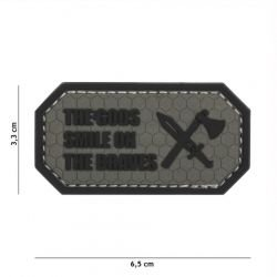 Patch 3D PVC The Gods Smile on the braves Gris