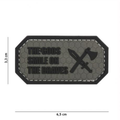 101 INC Patch 3D PVC The Gods Smile on the braves Gris AC-WP4441305443 Equipements