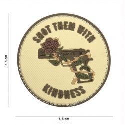 Patch 3D PVC Shoot Them With Kindness Coyote