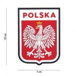 Patch 3D PVC Ecusson Pologne Rouge (101 Inc)