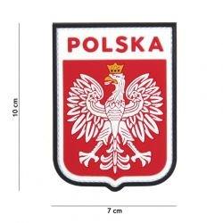Patch 3D PVC Ecusson Pologne Rouge