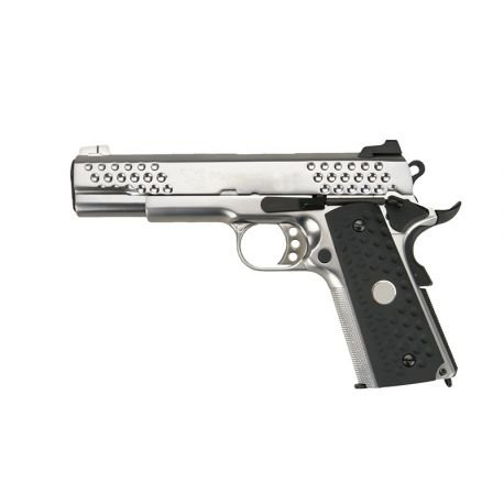 replique-WE 1911 Knight Hawk Gaz Argent -airsoft-RE-WEGP131SV