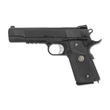replique-WE 1911 MEU Rail Gaz Noir -airsoft-RE-WEGP111SOCBK