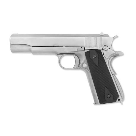 WE - M1911 SD (Full Metal, SV, Wooden Color Grip)