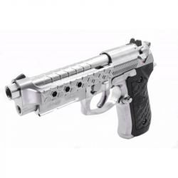replique-WE M9A1 Gen2 HexCut Gaz Argent -airsoft-RE-WEGP325