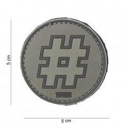 Patch 3D PVC Hashtag # Gris & ACU (101 Inc) AC-WP4441003800 Patch en PVC