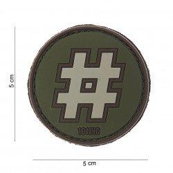 Patch 3D PVC Hashtag # OD (101 Inc) AC-WP4441003802 Patch en PVC