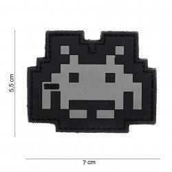 Patch 3D PVC Space invader Noir (101 Inc)