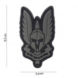 Patch 3D Spartan Fight PVC in Black Shade (101 Inc)