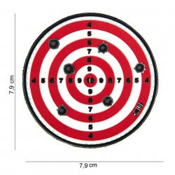 Parche de objetivo rojo de PVC 3D (101 inc.)