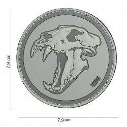 Patch 3D Tiger in PVC grigio Tiger (101 Inc)