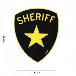 Patch 3D PVC Sheriff Jaune (101 Inc) AC-WP4441305021 Patch en PVC