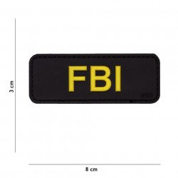3D PVC FBI Black Patch (101 Inc)