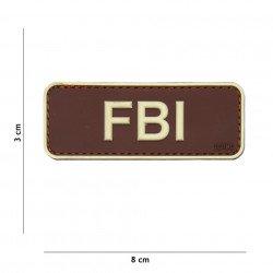 Patch 3D PVC FBI Marron (101 Inc) AC-WP4441305057 Patch en PVC