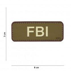 Patch 3D PVC FBI OD & Marron (101 Inc)