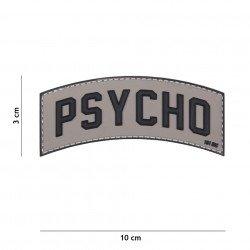 Parche Psycho 3D de PVC gris (101 Inc)